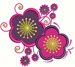 Flower Decoration embroidery design