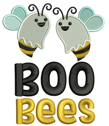 Boo Bees embroidery design