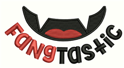 Fangtastic embroidery design