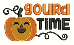 Gourd Time embroidery design