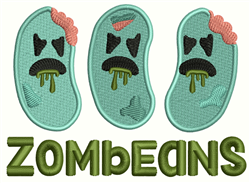Zombeans embroidery design