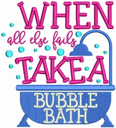 Take A Bubble Bath! embroidery design