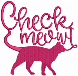 Cat Meow-t embroidery design