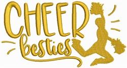 Cheer Besties embroidery design