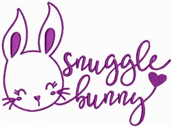 Snuggle Bunny embroidery design
