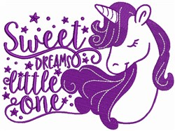 Sweet Dreams Unicorn embroidery design