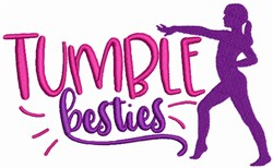 Tumble Besties embroidery design
