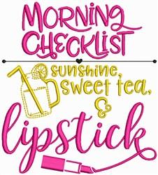 Sunshine, Sweet Tea and Lipstick embroidery design