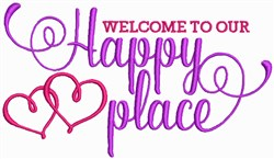 Welcome to our Happy Place embroidery design