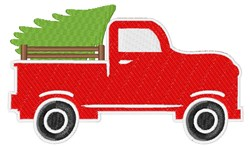 Truck With Tree embroidery design