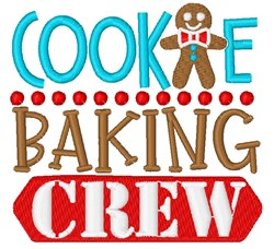 Cookie Baking Crew embroidery design
