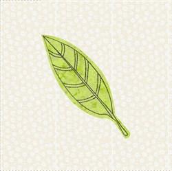 Raw Edge Leaf Applique Block 1 embroidery design