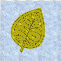Raw Edge Leaf Applique Block 2 embroidery design