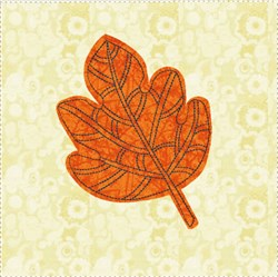 Raw Edge Leaf Applique Block 5 embroidery design