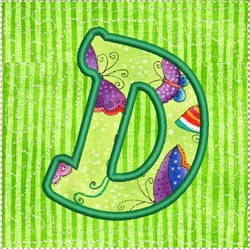 ITH Alphabet Quilt Block D embroidery design