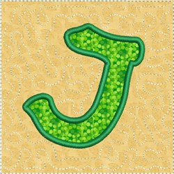 ITH Alphabet Quilt Block J embroidery design