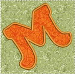 ITH Alphabet Quilt Block M embroidery design