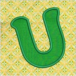 ITH Alphabet Quilt Block U embroidery design