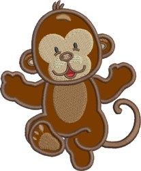 Appliqué Monkey embroidery design