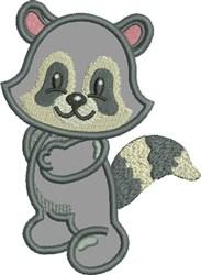 Appliqué Raccoon embroidery design