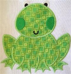 Appliqué  Frog embroidery design