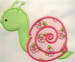Appliqué Snail embroidery design