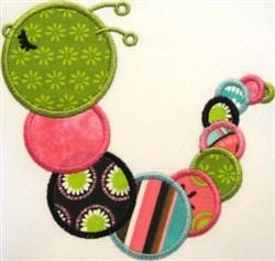 Applique Worm embroidery design
