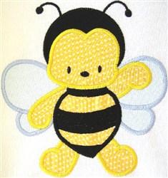 Appliqué Bumble Bee embroidery design