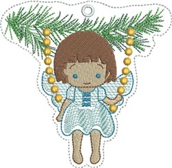 ITH Angel Swinging Felt Ornament embroidery design
