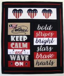 ITH Americana Mini Quilt embroidery design