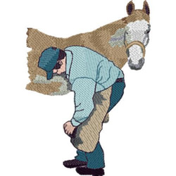 Farrier Jacket Back embroidery design