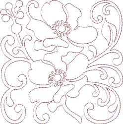 Anemone Single Run Quilting B embroidery design