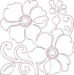 Anemone Single Run Quilting K embroidery design