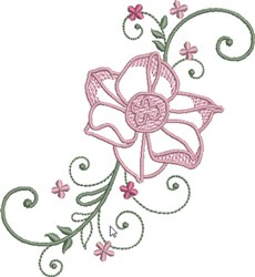 Airy Floral embroidery design