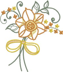 Fanciful Floral embroidery design