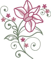 Fuchsia Floral embroidery design
