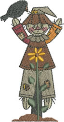 Autumn Scarecrow Boy embroidery design