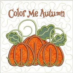 Color Me Autumn Applique embroidery design
