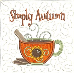 Simply Autumn Applique embroidery design