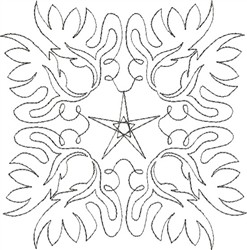 Angel Wings Single Run Quilt 4 embroidery design