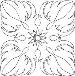 Angel Wings Single Run Quilt 9 embroidery design