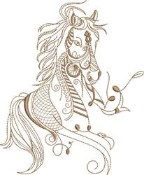 Fantasy Arabian Horse Portrait embroidery design