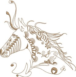 Fantasy Indian Horse embroidery design