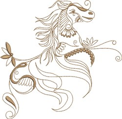 Fantasy Indian Arabian embroidery design