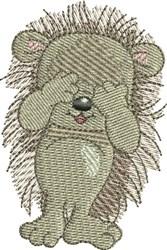 Hedgehog Peek-A-Boo embroidery design
