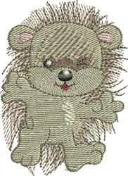 Hedgehog Winking embroidery design