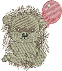 Hedgehog With Balloon embroidery design