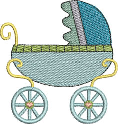 Baby Boy Pram embroidery design
