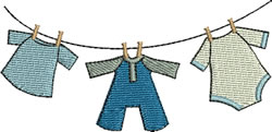 Baby Boy Clothes Line embroidery design
