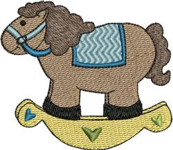 Boy Rocking Horse embroidery design